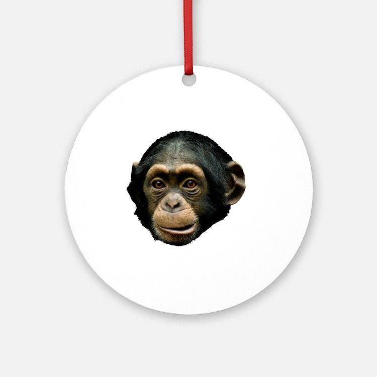 Chimpanzee Round Ornament
