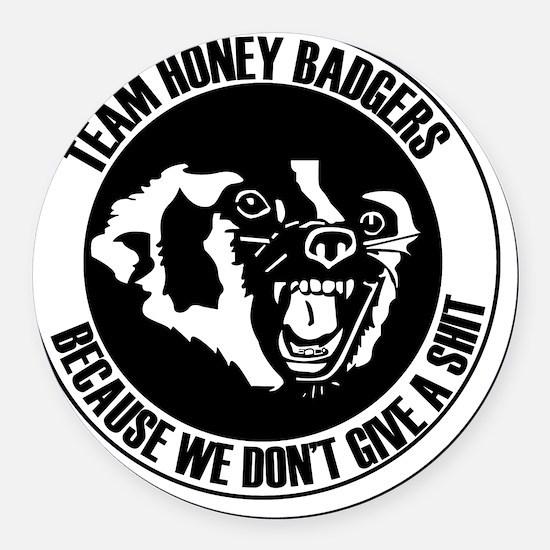 Team Honey Badgers Round Round Car Magnet