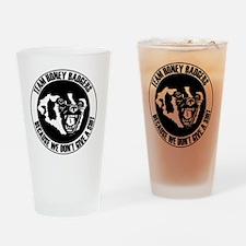 Team Honey Badgers Round Drinking Glass