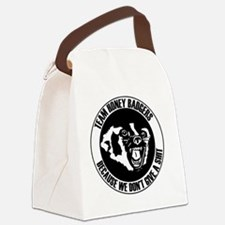 Team Honey Badgers Round Canvas Lunch Bag