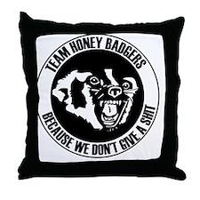 Team Honey Badgers Round Throw Pillow