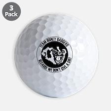 Team Honey Badgers Round Golf Ball