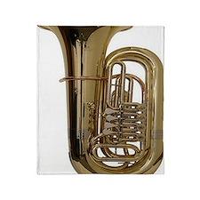 tuba-3 Throw Blanket
