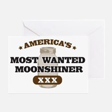 Most Wanted Moonshiner Greeting Card