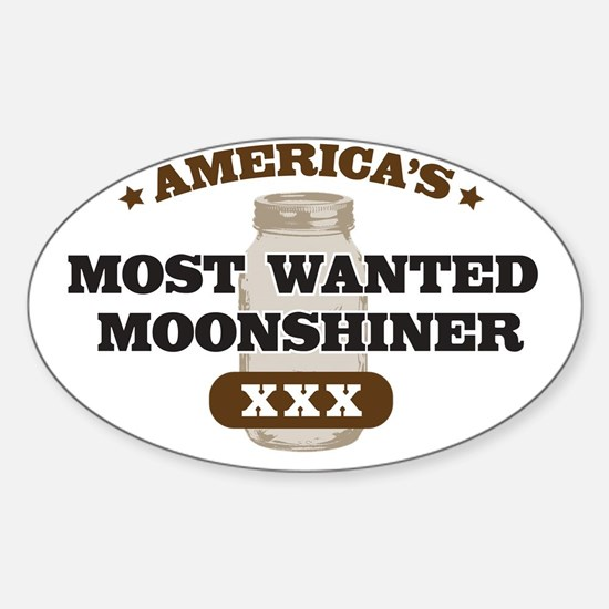 Most Wanted Moonshiner Sticker (Oval)