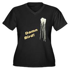 Damn Bird!- Women's Plus Size V-Neck Dark T-Shirt