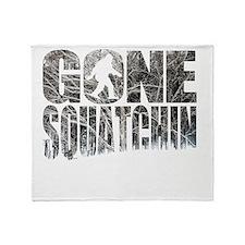 Gone Squatchin *Winter Woods Edition Throw Blanket