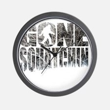 Gone Squatchin *Winter Woods Edition* Wall Clock