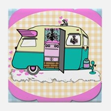 lil vintage trailer Tile Coaster