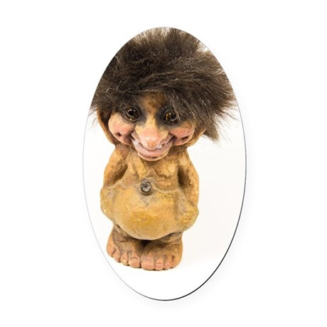 Be my Troll Oval Car Magnet
