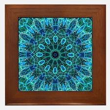 Underwater Beauty - mandala Framed Tile