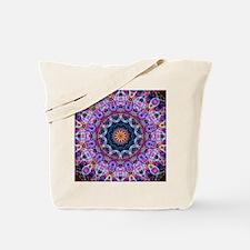 Purple Lotus Kaleidoscope Tote Bag