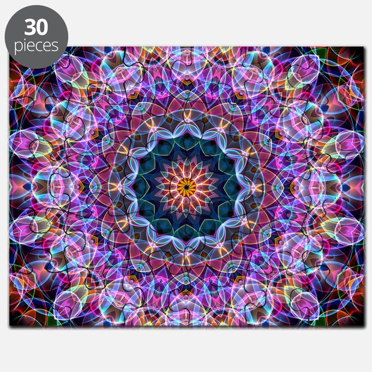 Purple Lotus Kaleidoscope Puzzle
