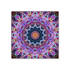"""Purple Lotus Kaleidoscope Square Sticker 3"""" x 3"""""""