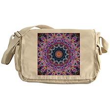 Purple Lotus Kaleidoscope Messenger Bag