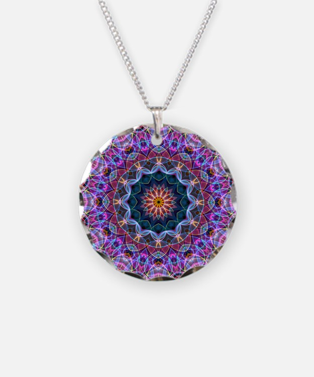 Purple Lotus Kaleidoscope Necklace