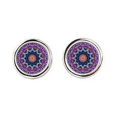 Purple Lotus Kaleidoscope Cufflinks