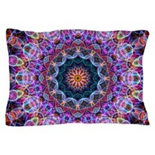 Purple Lotus Kaleidoscope Pillow Case