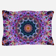 Purple Lotus Kaleidoscope Pillow Case