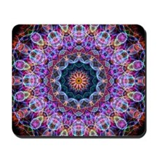 Purple Lotus Kaleidoscope Mousepad