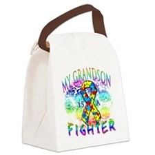 My Grandson Is A Fighter Canvas Lunch Bag