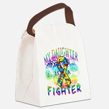 My Daughter Is A Fighter Canvas Lunch Bag