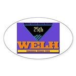 WELH 25th Reunion Oval Sticker