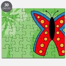 Butterfly Car Flag Puzzle