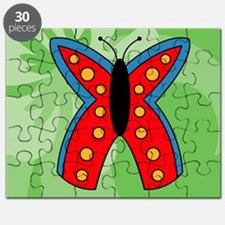 Butterfly Rectangular Cocktail Plate Puzzle