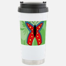 Butterfly Rectangular C Stainless Steel Travel Mug