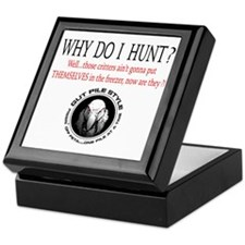 Why I Hunt White Shirt Keepsake Box