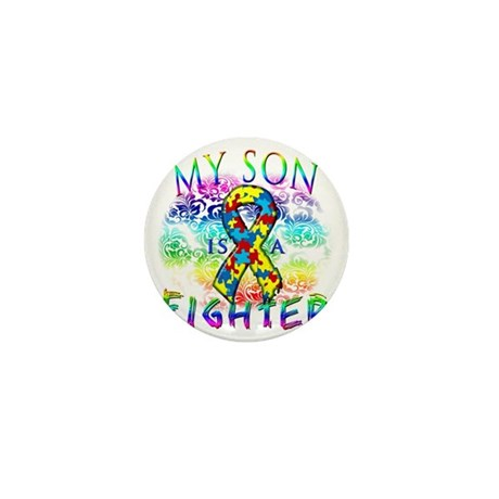 My Son Is A Fighter Mini Button