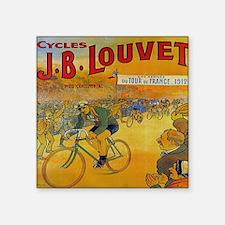 """Vintage Tour de France Post Square Sticker 3"""" x 3"""""""