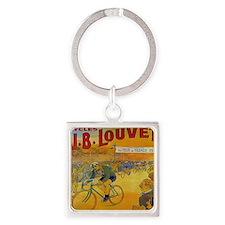 Vintage Tour de France Poster Square Keychain