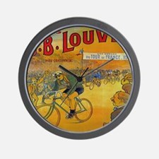 Vintage Tour de France Poster Wall Clock
