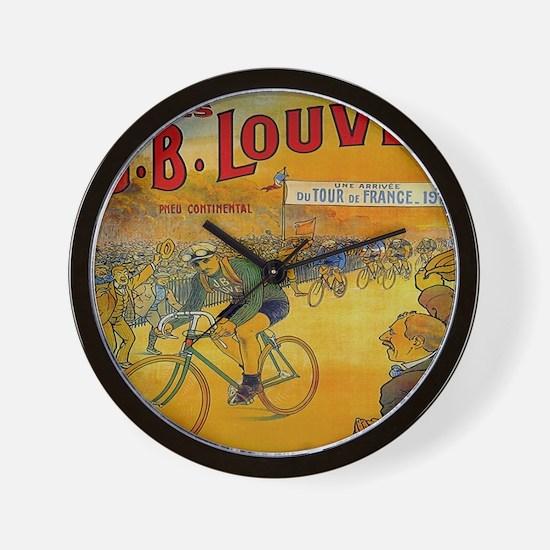 Vintage Tour de France Poster Wall Clock