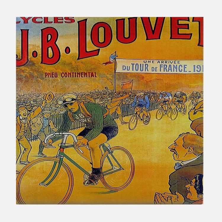 Vintage Tour de France Poster Tile Coaster