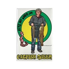 Catfish Queen Rectangle Magnet