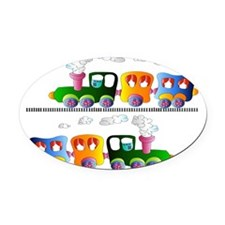 trains pillow Oval Car Magnet