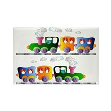 trains pillow Rectangle Magnet