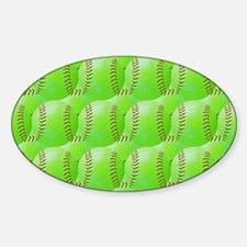 Softball Sticker (Oval)