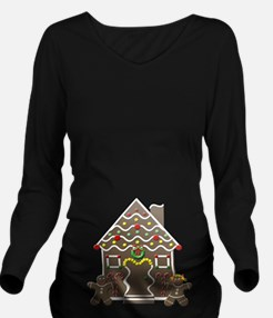 Cute Gingerbread House Christmas Long Sleeve Mater