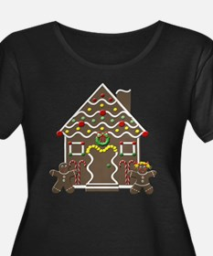Cute Gingerbread House Christmas Plus Size T-Shirt