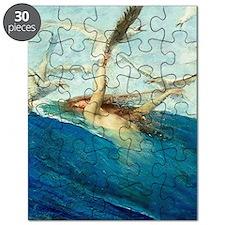 Vintage Segantini Mermaid Seagulls Puzzle