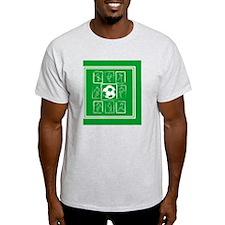 Painted Soccer Design T-Shirt