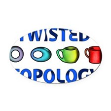 Twisted Topology Oval Car Magnet