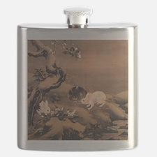 Japanese Rabbits Flask