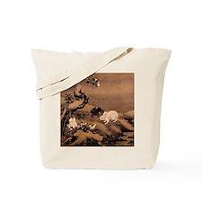 Japanese Rabbits Tote Bag
