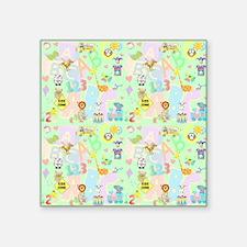 "abc 123 curtain Square Sticker 3"" x 3"""