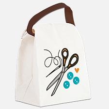 Love Button Canvas Lunch Bag